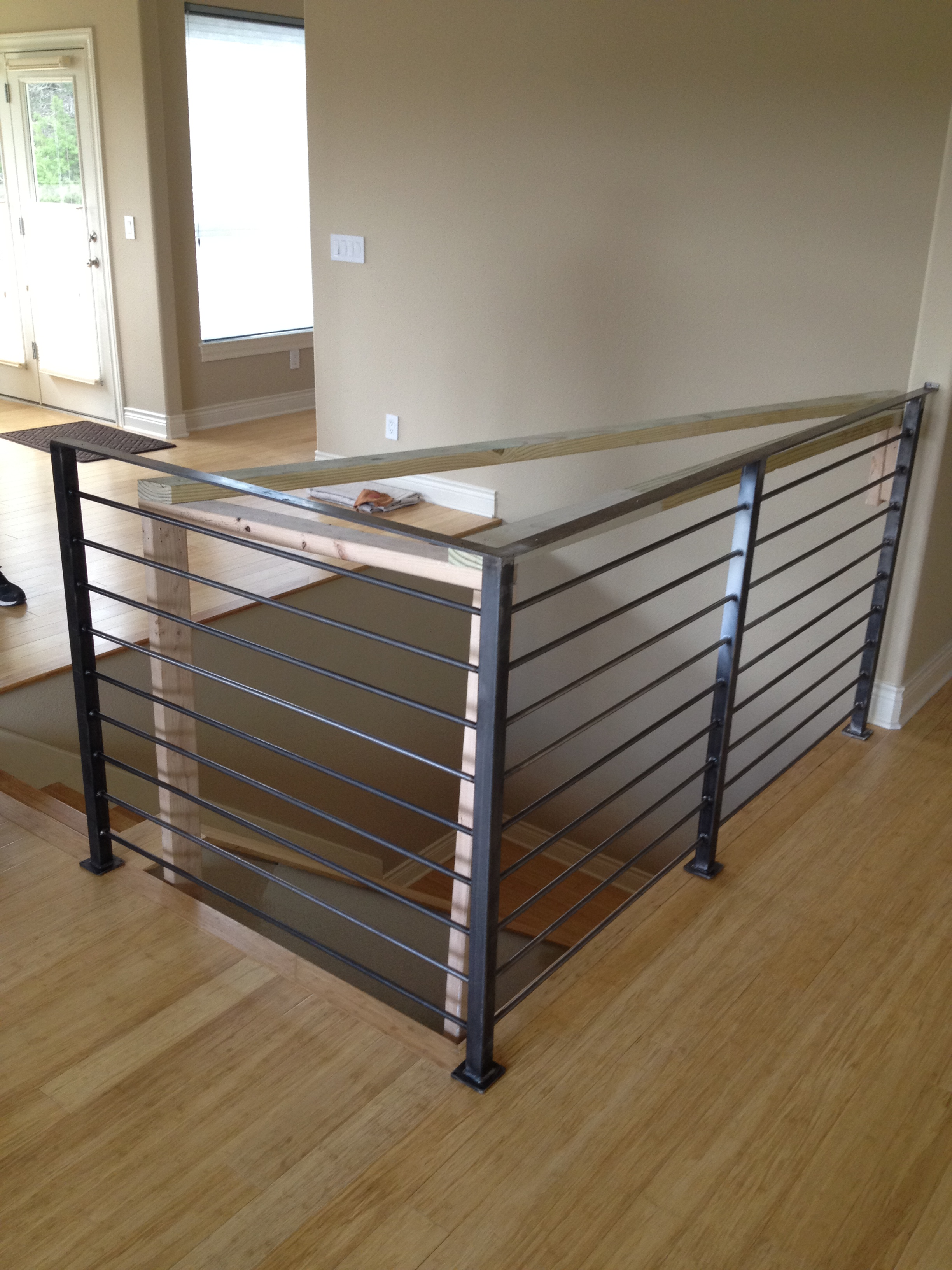 Modern Custom Stair Rails  Steel Works Austin